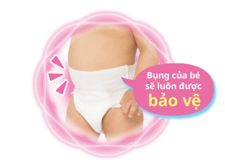 Vời bỉm quần Moony - Bụng của bé luôn được bảo vệ
